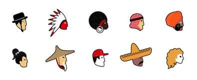 Ensemble d'avatars de vecteur Illustration de Vecteur