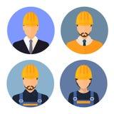 Ensemble d'avatars des constructeurs constructeurs Images stock