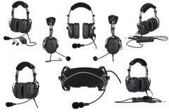 Ensemble d'aviation d'écouteurs illustration stock