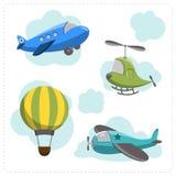 Ensemble d'avions de bande dessinée Photo stock