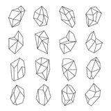 Ensemble d'ensemble de formes de cristal illustration stock