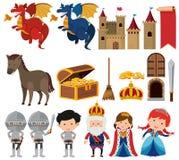 Ensemble d'ensemble de reine et de roi d'imagination illustration stock