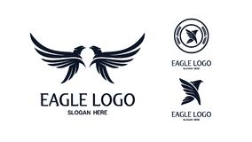 Ensemble d'Eagle Logo Vector illustration libre de droits