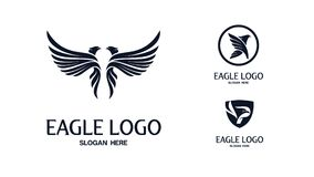Ensemble d'Eagle Logo Vector illustration stock