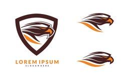 Ensemble d'Eagle Logo Vector Illustration Photo libre de droits