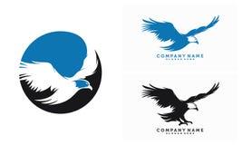 Ensemble d'Eagle Logo Vector Illustration Image libre de droits