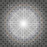Ensemble d'effets de la lumière rougeoyants d'or d'isolement sur le fond transparent Éclair de Sun avec les rayons et le projecte Photo stock