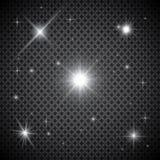 Ensemble d'effets de la lumière rougeoyants d'or d'isolement sur le fond transparent Éclair de Sun avec les rayons et le projecte illustration libre de droits