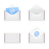 Ensemble d'email d'enveloppe Images stock