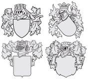 Ensemble d'emblèmes aristocratiques No10 Images libres de droits
