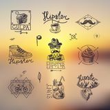 Ensemble d'emblèmes de hippie Image libre de droits