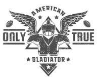 Ensemble d'emblèmes et de logo de football américain Images libres de droits