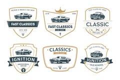 Ensemble d'emblèmes et d'insignes de voiture de muscle Image libre de droits