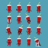 Ensemble d'emoji de caractère de pommes frites Photos libres de droits