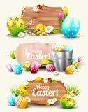 Ensemble d'en-têtes et de bannières de Pâques Image stock