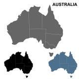Ensemble d'ensemble de carte d'Australie Photographie stock libre de droits