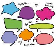 Ensemble d'entretien de bulles de la parole Illustration Libre de Droits