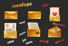 Ensemble d'enveloppes de courrier Photographie stock