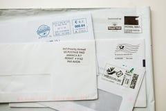 Ensemble d'enveloppes d'iIternational de l'autre côté du monde Photos stock