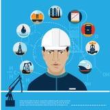 Ensemble d'essence d'huile de voiture de station de combustible gazeux Photo stock
