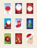 Ensemble d'estampilles de Noël Image libre de droits