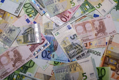 Ensemble d'euro billets de banque Image libre de droits