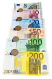 Ensemble d'euro billets de banque et pièces de monnaie Photos libres de droits