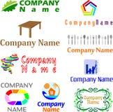 Ensemble d'exemples assortis de logo Photographie stock