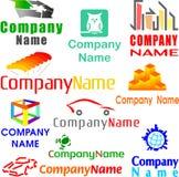 Ensemble d'exemples assortis de logo Images stock