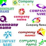 Ensemble d'exemples assortis de logo Photographie stock libre de droits