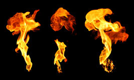 Ensemble d'explosions Images stock