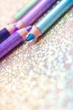 Ensemble d'eyeliners, orientation sur la bleue Image libre de droits