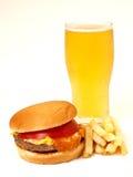 Ensemble d'hamburger Photo libre de droits