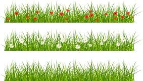 Ensemble d'herbe de bannières Image libre de droits