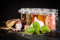 Ensemble d'herbes et d'épice différentes Photo stock