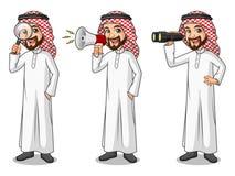 Ensemble d'homme d'affaires Saudi Arab Man recherchant des poses Photo libre de droits