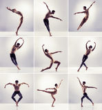 Ensemble d'hommes de danse Collection de danseurs classiques Image stock