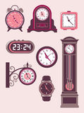 Ensemble d'horloge Images libres de droits