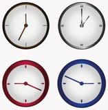 Ensemble d'horloge ronde Images stock