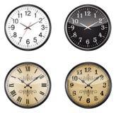 Ensemble d'horloges Images stock