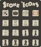 Ensemble d'icône d'échecs illustration stock