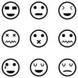 Ensemble d'icône d'émotion illustration stock