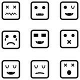 Ensemble d'icône d'émotion illustration libre de droits