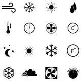 Ensemble d'icône d'état d'air Images stock