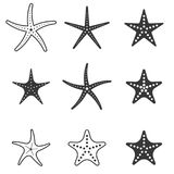 Ensemble d'icône d'étoiles de mer illustration de vecteur