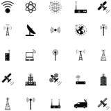 Ensemble d'icône d'antenne illustration de vecteur