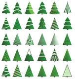 Ensemble d'icône d'arbre de Noël Image libre de droits