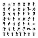 Ensemble d'icône de bâton de personnes d'homme, style simple illustration stock