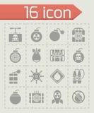 Ensemble d'icône de bombe de vecteur Image libre de droits
