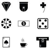 Ensemble d'icône de casino Image libre de droits